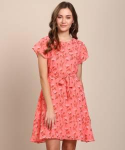 Ann Springs Women A-line Pink Dress