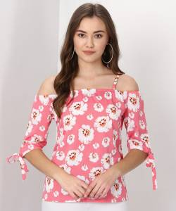 Ann Springs Casual Half Sleeve Floral Print Women's Multicolor Top