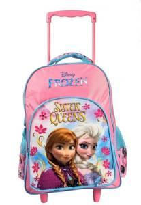 Disney Frozen Frozen Sisters Queen Pink School Bag 46 cm T (Secondary 3rd Std Plus) School Bag