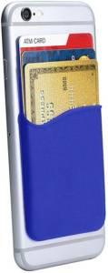 Oye Stuff Phone Wallet Silicone Adhesive Card Holder Dark Blue Mobile Holder