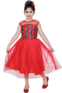 Celebrity club Girls Midi/Knee Length Festive/Wedding Dress