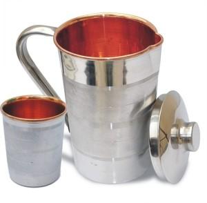 VEDA HOME & LIFESTYLE Steel Copper Luxury Jug Set Large Water Jug Set