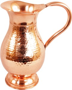Indian art villa Copper Royal Hammer Jug No. 2 Water Jug