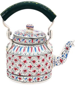 SR Crafts Multicolor Hand Painted Aluminum Tea Kettle Jug Kettle Jug