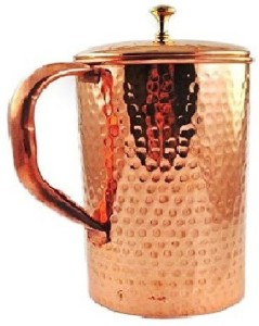 Frabjous Pure Copper Jug with Lid for Health Benefits(S4) Water Jug