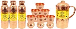 IndianArtVilla Set of 1 Jug with 3 Bottle & 6 Glass Water Jug Set