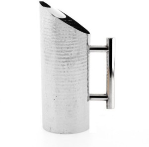 THW Stainless Steel Hammered Water Pitcher