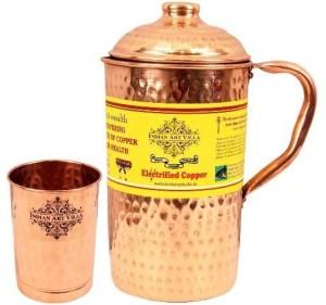 IndianArtVilla Set of 1 jug with 1 Glass Water Jug Set