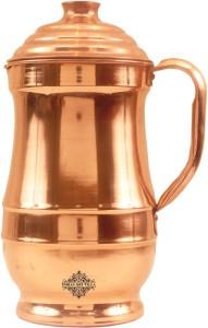 c0117a9572 IndianArtVilla Copper Maharaja Design Plain Jug Pitcher Water Jug ( 1.4 L )