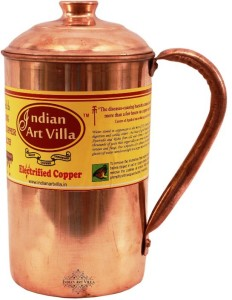 Indian Art Villa Copper Jug Pitcher - Storage Water Home Hotel Restuarnt Tableware Drinkware Water Jug