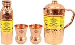 IndianArtVilla Set of 1 Jug with 1 Bottle & 2 Glass Water Jug Set