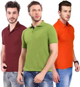 Ansh fashion Wear Presents Combo of Men's Polycotton Tshirt - Pack Of 3