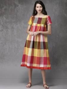 Anouk Women Striped A-line Kurta