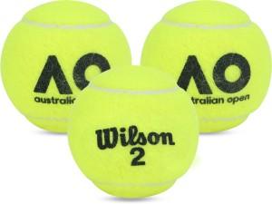 wilson australian open tennis ball(pack of 3, green)