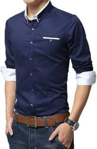 Pearl ocean Men Dark Blue Shirt