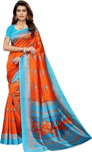 Siril Orange, Blue Sari