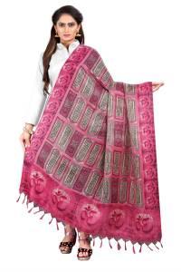 Vimalnath Synthetics Women Pink Dupatta