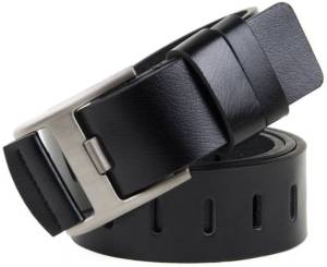 HENEDA Men's Causal Black Synthetic Leather Belt