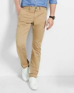 Ansh Fashion Wear Men Beige Trouser