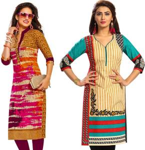 Jevi Prints Pure Cotton Printed Kurta Fabric Unstitched