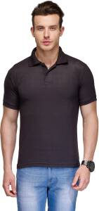 Teesort Solid Men Polo Neck Multicolor T-Shirt Pack of 4