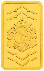 kundan ganesha 24 (9999) k 20 g yellow gold coin Ganeshji