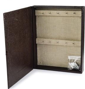 Eco-Leatherette KHB.Chocolate Cotton Key Holder