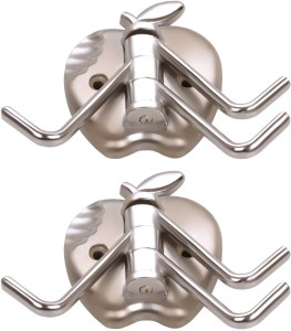 Doyours 2 Set Glossy Steel In Apple Design 3 - Pronged Hook