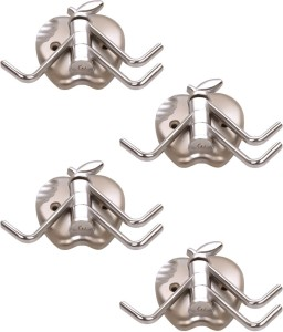 Doyours 4 Set Glossy Steel In Apple Design 3 - Pronged Hook
