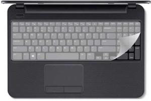 Saco Keyboard Protector Silicone Skin Cover for Lenovo G50-80 80E5021EIN 15.6-inch Laptop Transparent