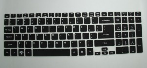 Saco Silicone Chiclet Protector Cover Fit for Acer Aspire E1-572 LX Laptop Keyboard Skin