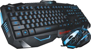 MARVO Scorpion Black Light Wired Gaming Keyboard and Mouse Combo Wired USB Gaming Keyboard
