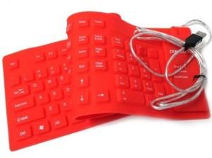 ROQ 109 Keys USB Silicone Rubber Waterproof Flexible Foldable Wired USB Laptop Keyboard