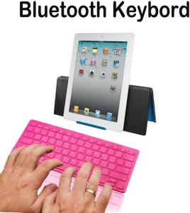 Callmate Bluetooth Keyboard with B T USB Dongle - Silver Bluetooth Laptop  KeyboardSilver