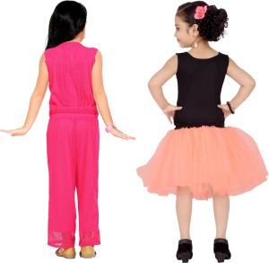 59e68c3d317e Aarika Girls Party Festive Jumpsuit Dress Pink Best Price in India ...