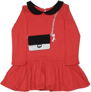 b91fb8fd6d1 The Children s Place Baby Girl s Midi Knee Length Casual Dress ( Red Full  ...