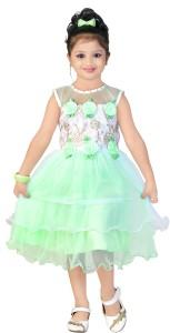 Asr Creation Girl's Midi/Knee Length Party Dress