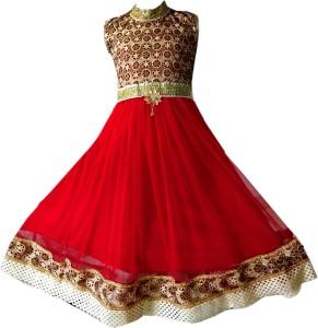 AD & AV Girl's Midi/Knee Length Party Dress