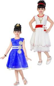 3530bfd2c FTC Bazar Girl s Midi Knee Length Party Dress Blue Sleeveless Best ...