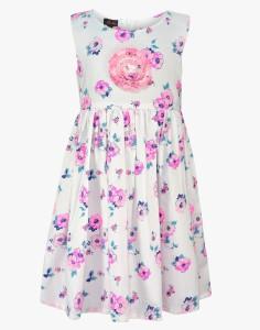 Pspeaches Girl's Midi/Knee Length Casual Dress