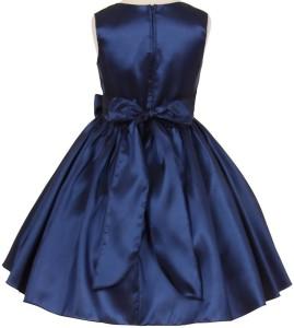 f4619d19fa Fairy Dolls Girl s Midi Knee Length Party Dress Dark Blue Sleeveless ...