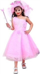 9810179fa Ishika Garments Baby Girl s Maxi Full Length Party Dress Pink ...