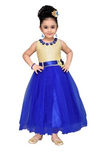 224c6db1bb Adiva Girl s Maxi Full Length Party Dress Blue Sleeveless Best Price ...