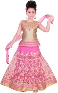 0e5d2eddcfc8 Saarah Girls Lehenga Choli Ethnic Wear Embroidered Lehenga Choli and ...