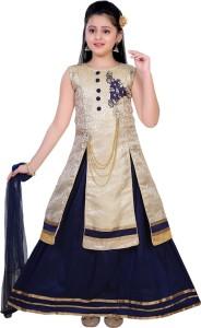 7b7fb5cfa Saarah Girls Lehenga Choli Ethnic Wear Self Design Lehenga Choli and ...
