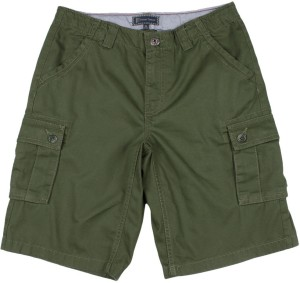 51c293d6 Indian Terrain Short For Boys Casual Solid Cotton Dark Green Best ...