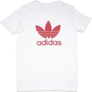 1d643bd0 Adidas Girls Printed Cotton T Shirt White Pack of 1 Best Price in ...