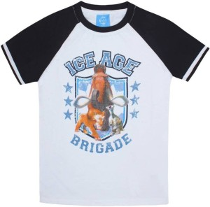 ca2e4b8b4 Ice Age Boys Printed Cotton T Shirt White Pack of 1 Best Price in ...