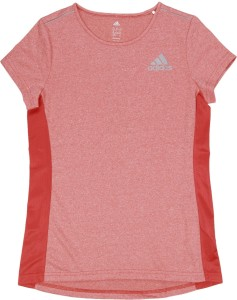a7df3308 Adidas Girls Solid Polyester T Shirt Red Pack of 1 Best Price in ...