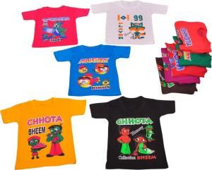 64fd32e10 Pari Prince Boys Printed Hoisery T Shirt Multicolor Pack of 5 Best ...